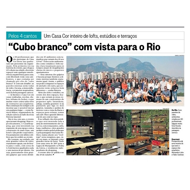 Jornal O Globo 28/09/2014